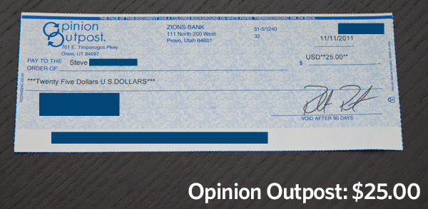 Opinion Outpost Review - Check