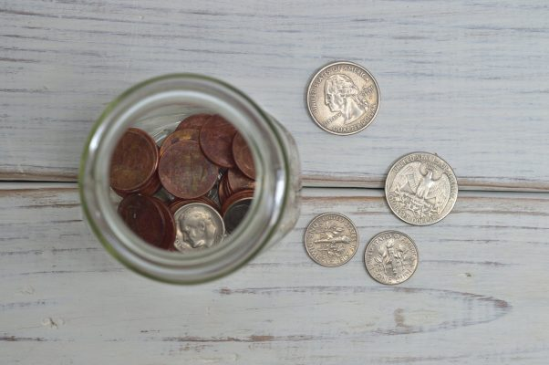 penny in jar